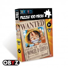 Puzzle One Piece 100 pièces Wanted Luffy