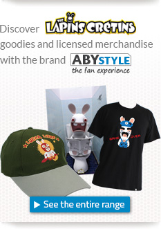 Discover Raving Rabbids goodies and licensed merchandise with the brand ABYstyle